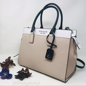 KATE SPADE CAMERON LARGE SATCHEL WARM BEIGE